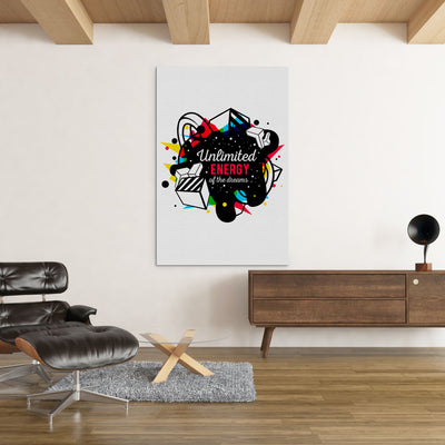 Unlimited Energy of the Dreams inspirational home or office wall art - Printed Canvas - Artiful.org
