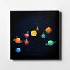 Artiful Witty Solar System Canvas Wall Art