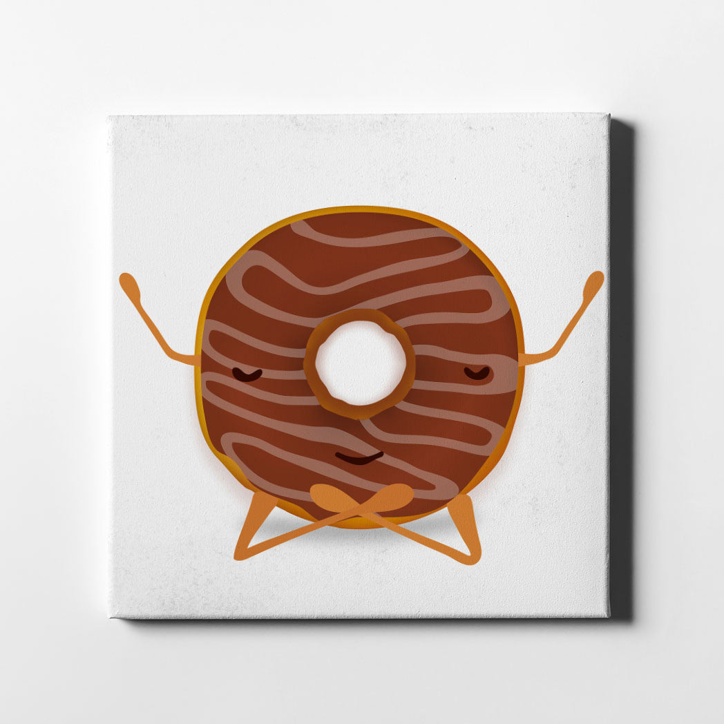 Donut Yoga Canvas Art - By Artiful The Good Art Store