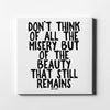 Artiful Anne Frank - The beauty that remains Quote Canvas Wall Art - white