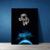 Artiful Astronaut Holding a Beer Canvas