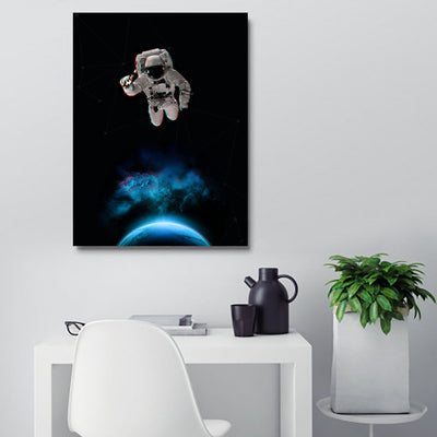 Artiful Astronaut Holding a Beer Wall Art