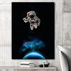 Artiful Astronaut Holding a Beer in space Canvas Wall Art