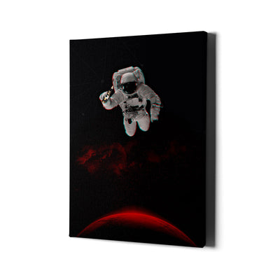Artiful Astronaut on Mars with a Beer Canvas Wall Art
