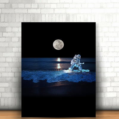 Artiful Surfing Astronaut Canvas - Space Art