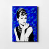 Artiful Audrey Hepburn Blue Iconic Canvas Art