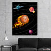 Artiful Basketball Solar System Canvas Art