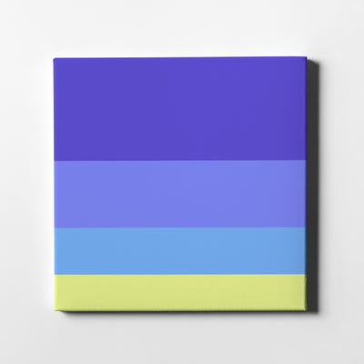 Beach In Venus Canvas Art - Artiful Color Palette Art Collection