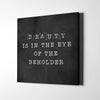 Artiful Black Beauty is in the eye of the beholder Canvas Wall Art