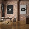 Black Lips on Marble White - Printed Canvas - Lips art Collection Only at artiful store