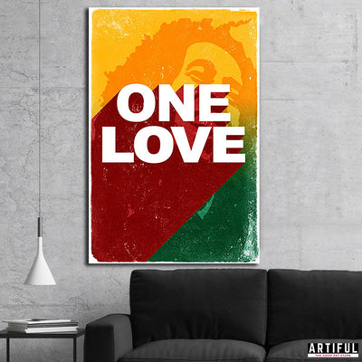 Artiful Bob Marley art. Beautiful wall canvas