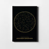 Northern Constellations on black - Printed Canvas - Only in Aristeas shop