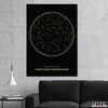 Artiful Black Northern Constellations home or office wall art