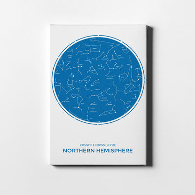 Artiful Northern Constellations Printed Canvas art