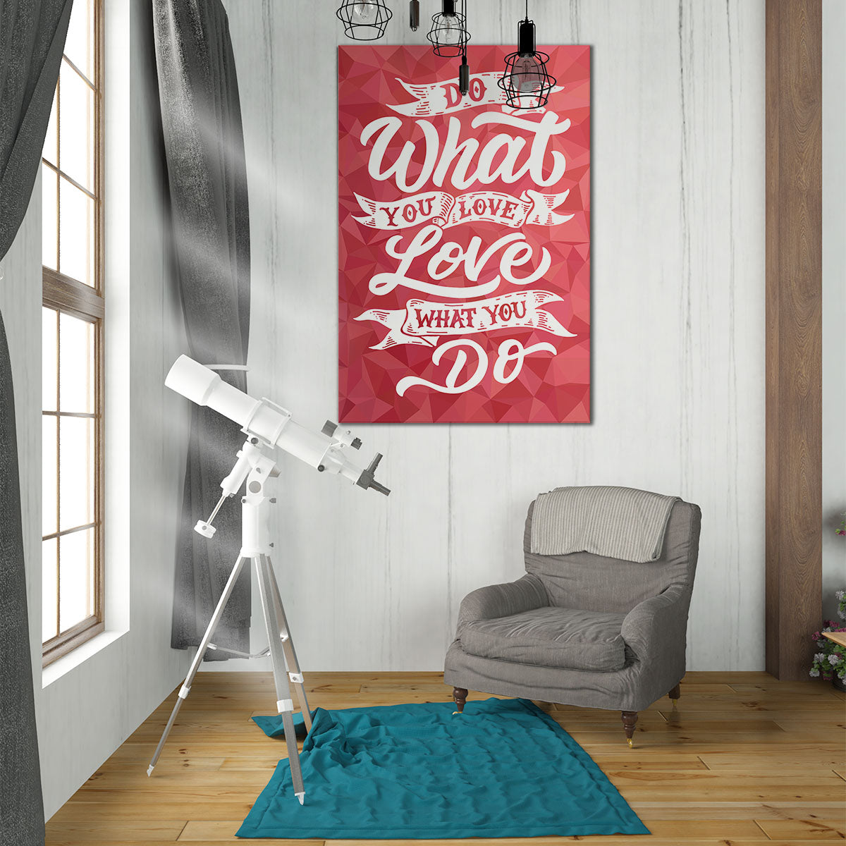 Do What You Love - Printed Canvas - Best Canvas Wall Art - Artiful.org