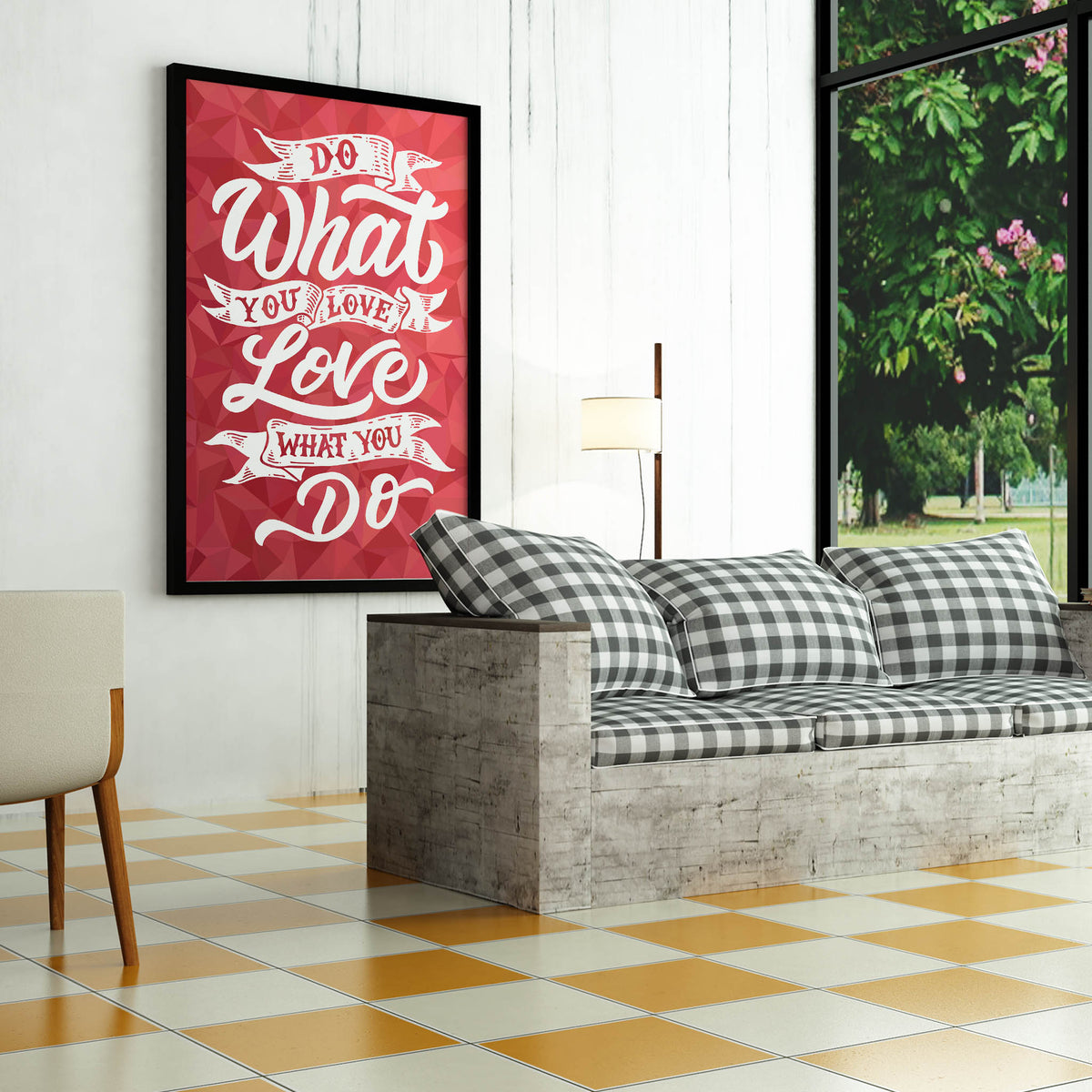 Artiful Do What You Love inspirational home  or office wall art