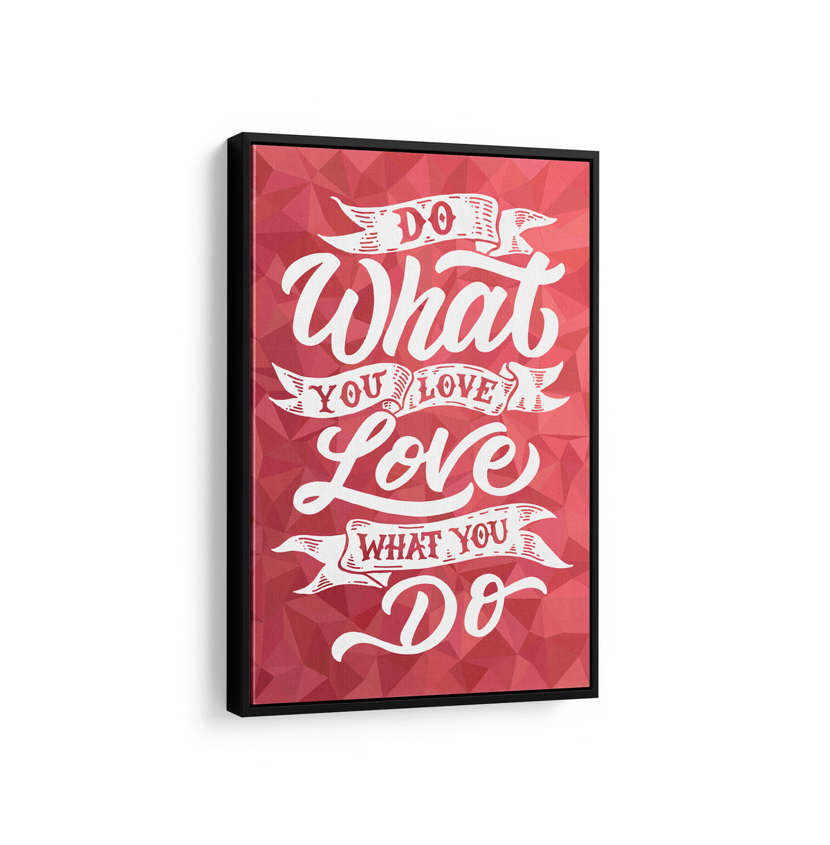 Artiful Do What You Love motivational Canvas Wall art, framed