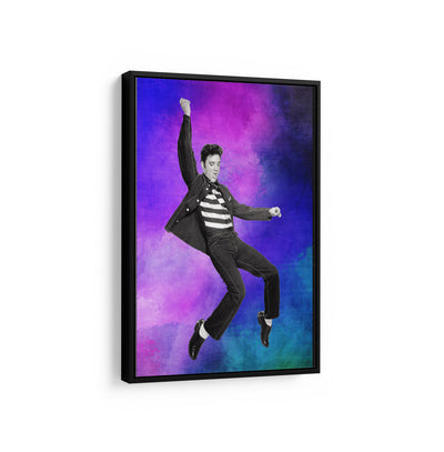 Artiful The King Elvis Presley Canvas Wall art, framed