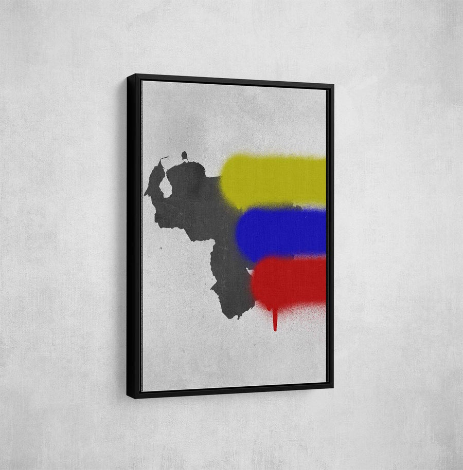 Artiful Map Graffiti Venezuela Canvas Art