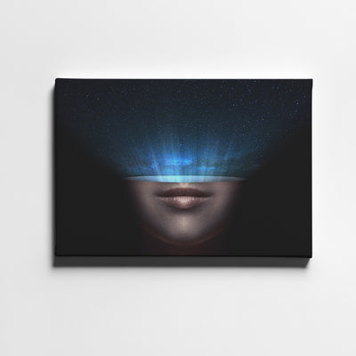 Artiful Head Space Printed Canvas art