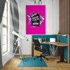 Artiful Keep Calm and Crazy inspirational home or office wall art
