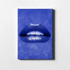 Artiful Blue Lips Canvas art