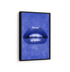Blue Lips - Printed Canvas - Lips art Collection Only at artiful store