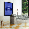 Artiful Blue Lips Canvas Wall art, Lips collection