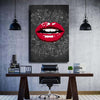 Artiful Musical Red Lips Canvas Wall Art