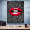 Artiful Musical Red Lips Canvas Art only at artiful.org