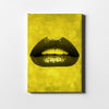 Artiful Yellow Lips Canvas art