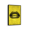 Artiful Yellow Lips Canvas Wall art, Lips collection