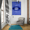 Artiful Blue Lips inspirational home or office wall art