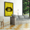 Artiful Yellow Lips inspirational home or office wall art