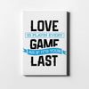 Love The Game on White - Printed Canvas - Only in Aristeas shop