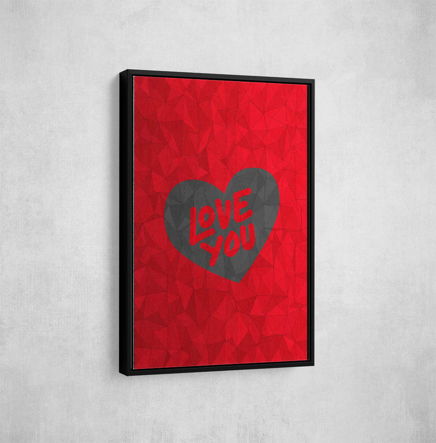 Artiful I Love You Canvas art