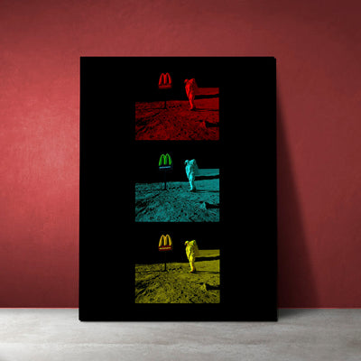 Artiful awesome McDonalds on the Moon Canvas art