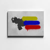 Artiful Venezuelan map and flag Canvas Art