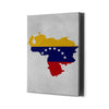 Venezuelan Flag Map - Mapa y bandera venezuela - Best Canvas Wall Art - Artiful.org