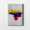 Venezuelan Flag Map Canvas - Best Canvas Wall Art - Artiful.org