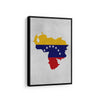 Venezuelan Flag Map - Printed Canvas - Best Canvas Wall Art - Artiful.org