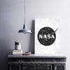 Artiful NASA Black and White Canvas Cosmos Wall Art