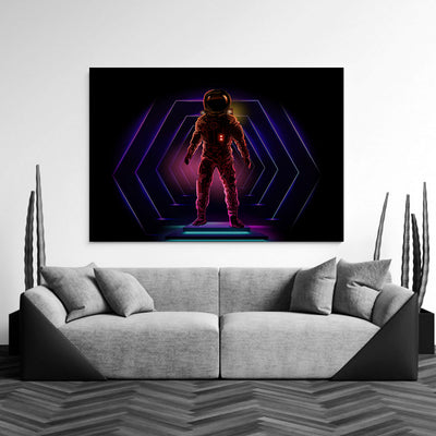 Artiful Neon Astronaut Wall Art