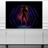 Artiful Neon Astronaut Canvas Wall Art space collection