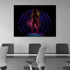 Artiful Neon Astronaut Canvas
