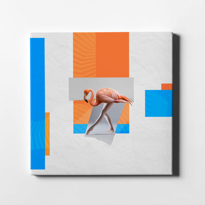 Artiful Ballet flamingo III Canvas Art