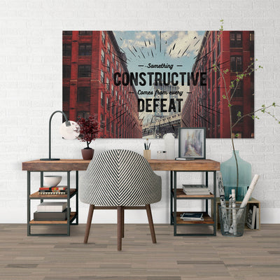 Artiful Build On Defeat inspirational home or office wall art