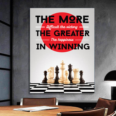 Artiful The more difficult the victory, the greater the happiness in winning Wall art