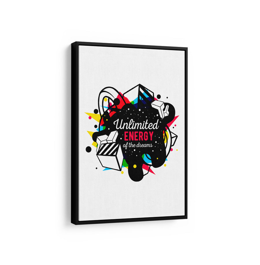Artiful Unlimited Energy of the Dreams motivational Canvas art