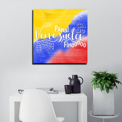 Venezuela Tricolor Canvas Art Canvas Art - Artiful Arte Venezuelano Collection